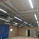 Indoor lighting installation by Kent Electrical & Fire