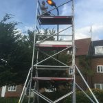 Outdoor lighting installation by Kent Electrical & Fire